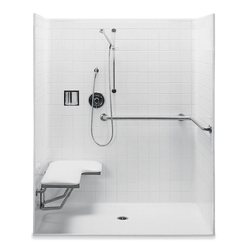 Aquatic 1603BFST at Elegant Designs Alcove Shower Enclosures in a ...