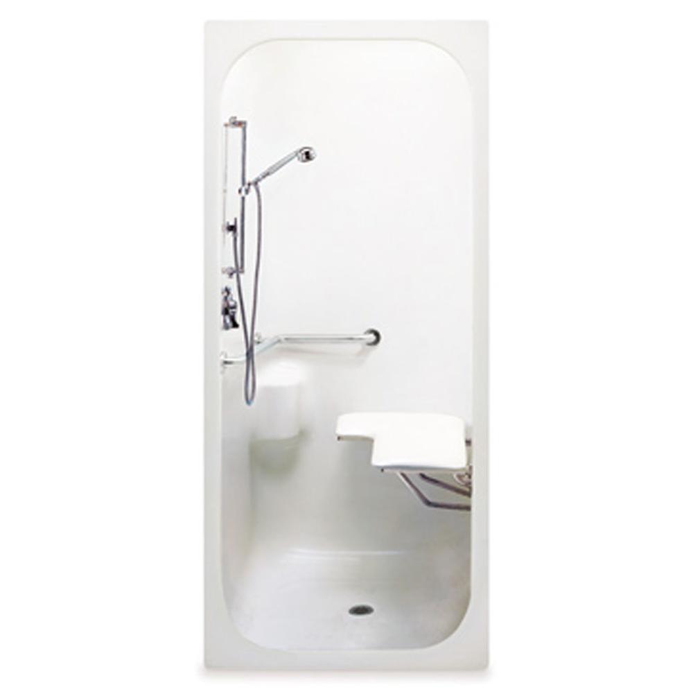 Aquatic 3636BFSLMA at Elegant Designs Alcove Shower Enclosures in a ...