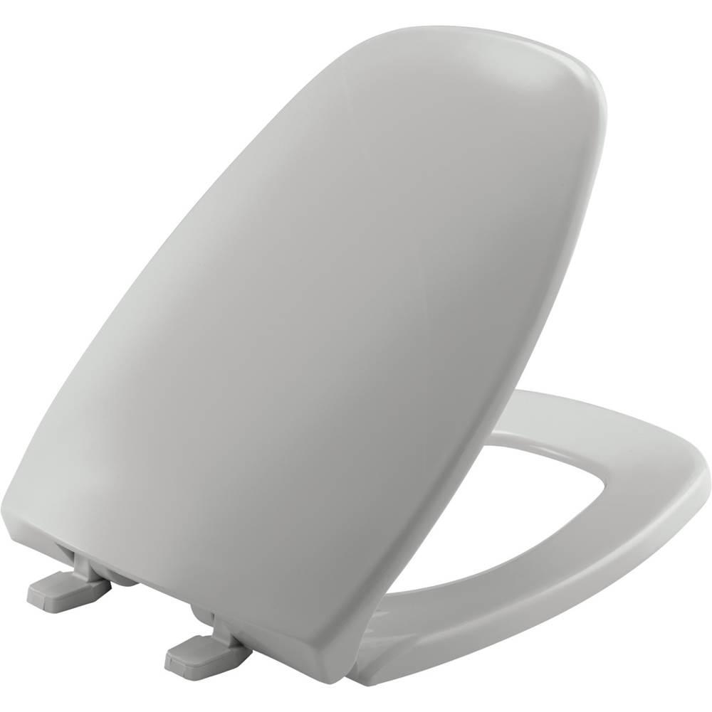 Bemis - 7B1240205 162 - Elongated Plastic Toilet Seat - Silver