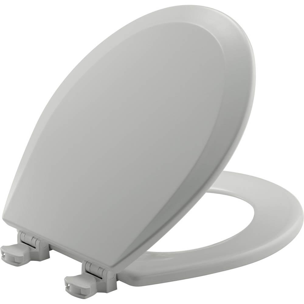 Bemis - 7B500EC 062 - Round Molded Wood Toilet Seat with EasyClean & Change Hinge - Ice Gray