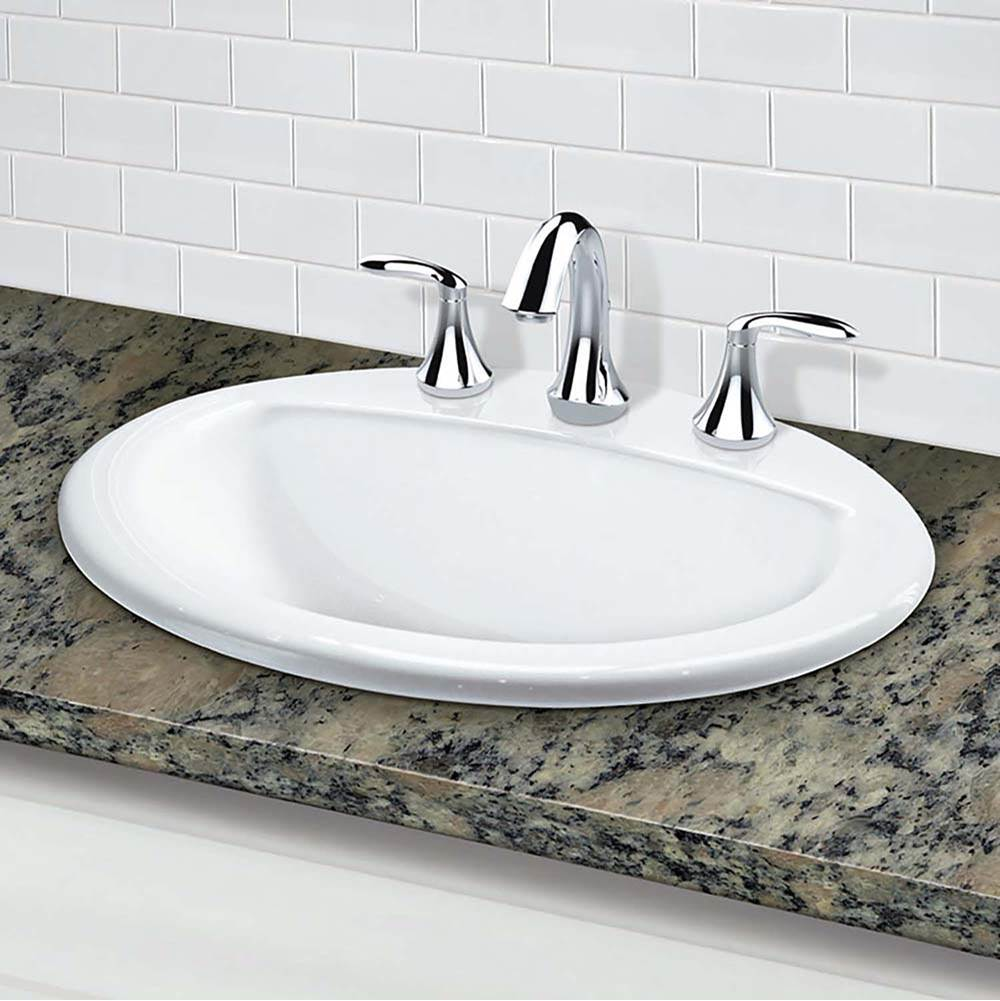 Decolav - 1436-8-CWH - Drop-In Oval Lavatory