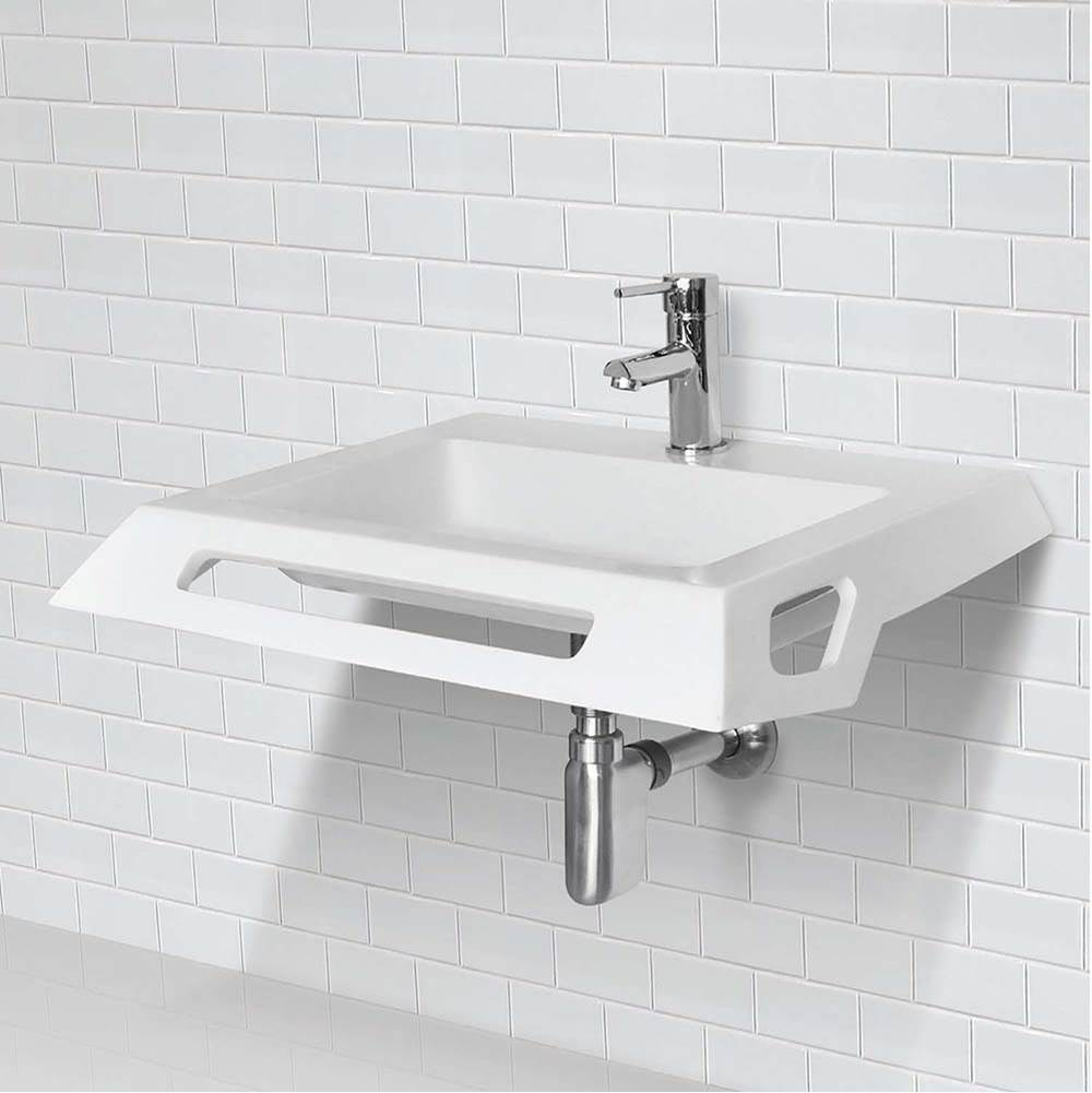 lexine solid surface ada compliant wall mount lavatory