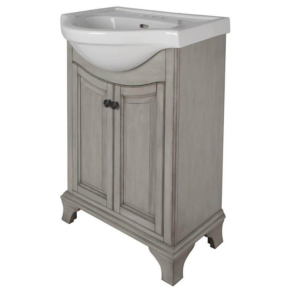 Foremost CNAGVT At Elegant Designs Transitional Floor Mount - Antique grey bathroom vanity