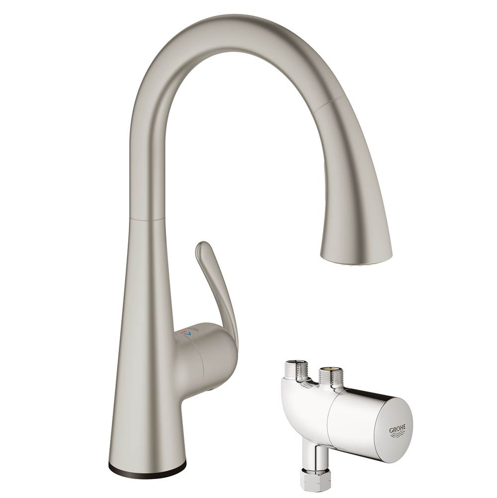 Grohe 30226DC0 at Elegant Designs Deck Mount Kitchen Faucets in a ...