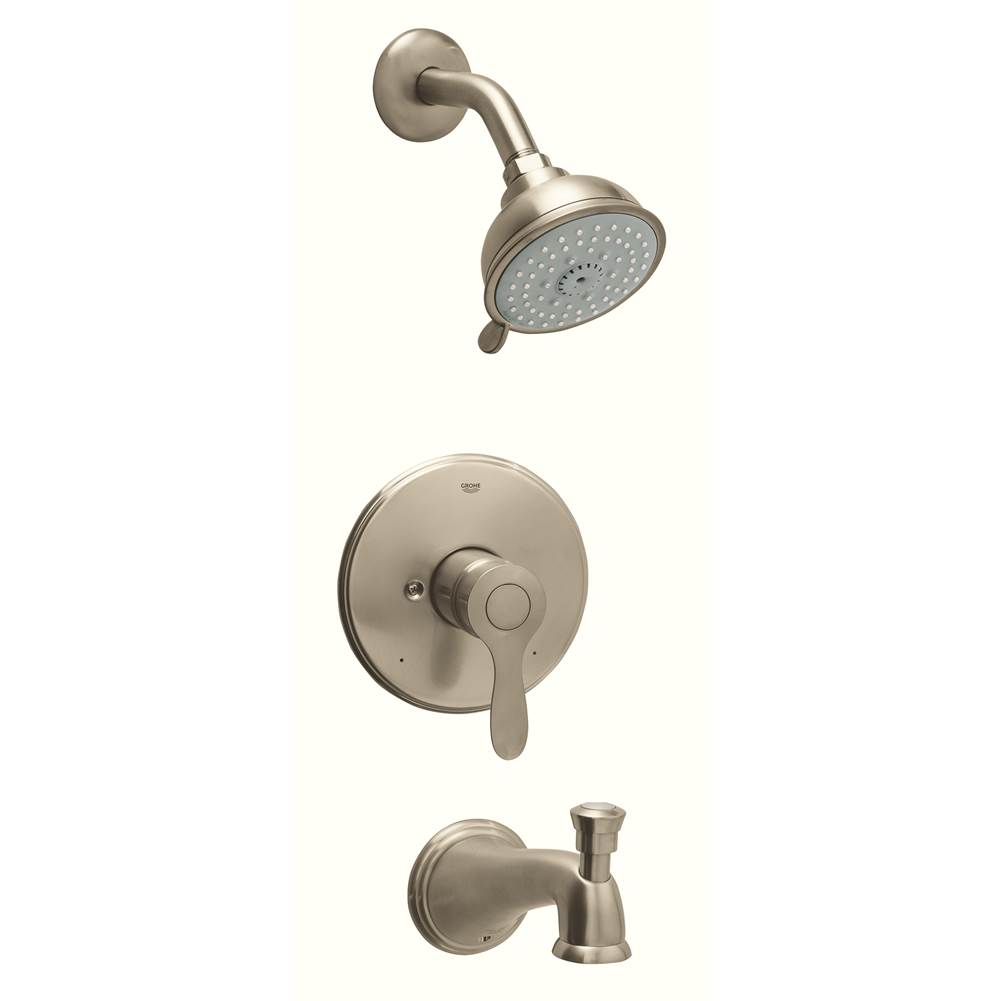 Grohe 35040en0 parkfield single handle 4 spray tub and shower faucet combination