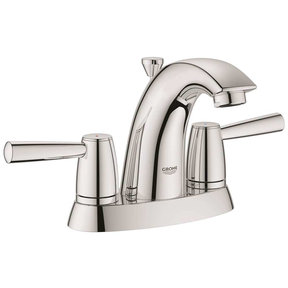 Grohe 20388000 At Elegant Designs Centerset Bathroom Sink Faucets In A Decorative Starlight