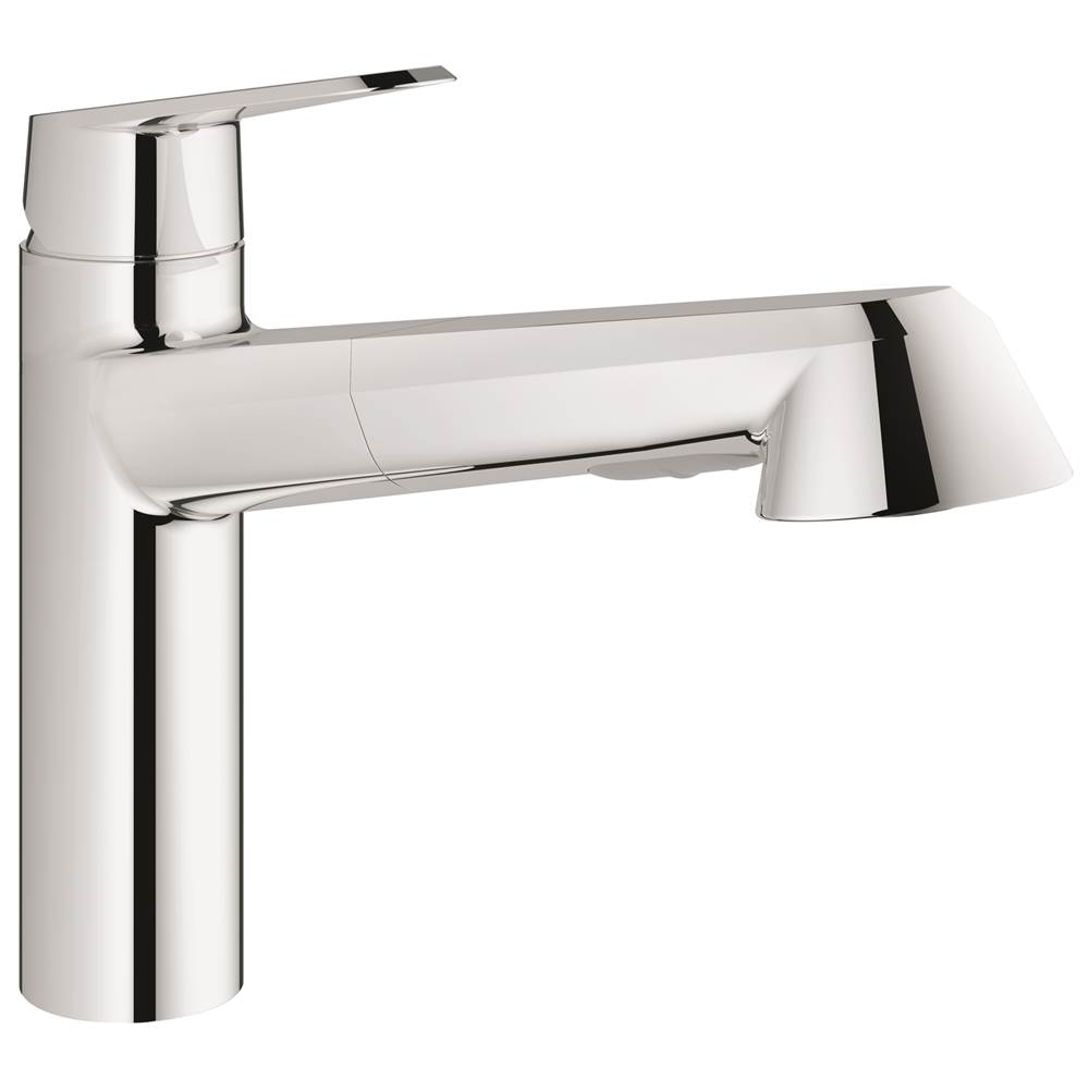Grohe   33330002   Eurodisc Cosmopolitan Single Handle Pull Out Kitchen  Faucet. Grohe