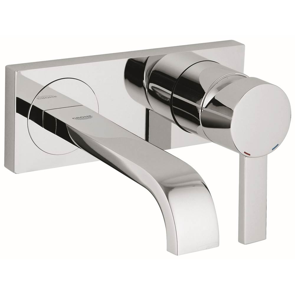 Grohe   1930000A   Allure Single Handle 2 Hole Wall Mount Vessel Small Bathroom  Faucet