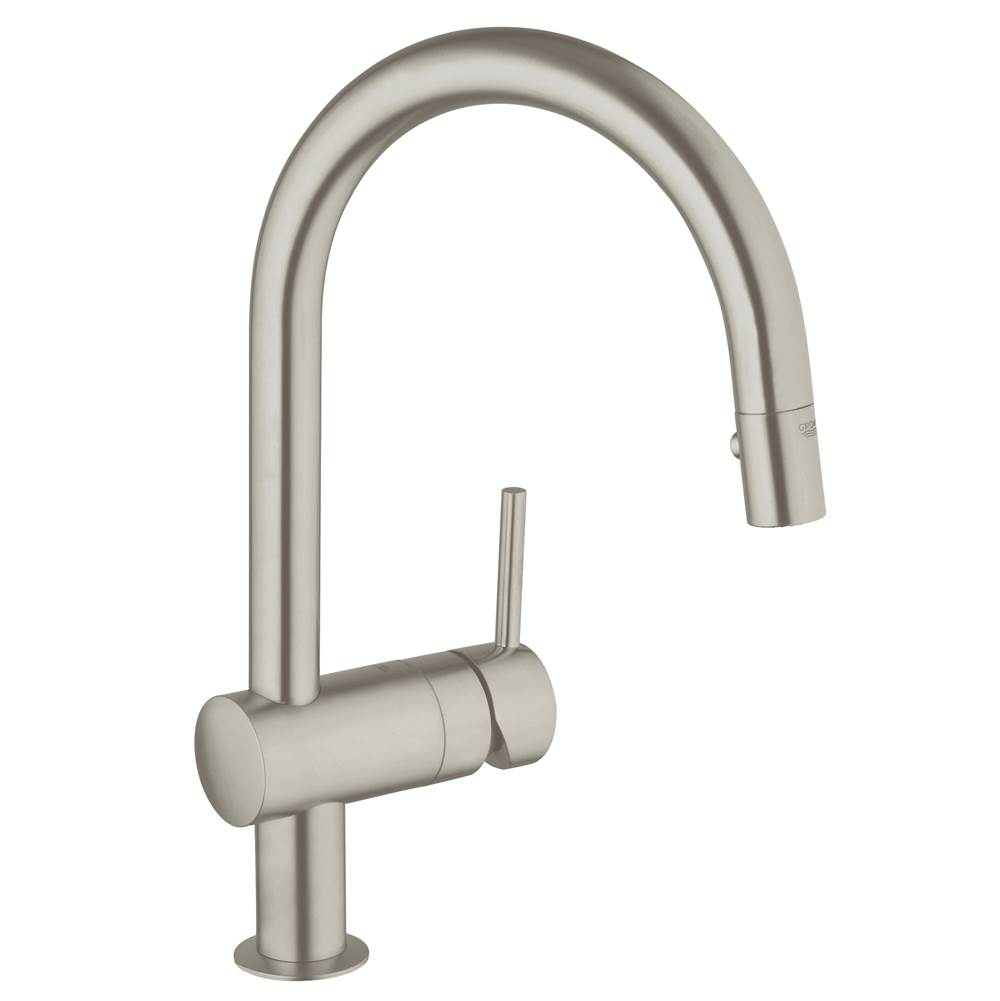 Grohe   31378DC0   Minta Single Handle Pull Down High Arc Kitchen Faucet