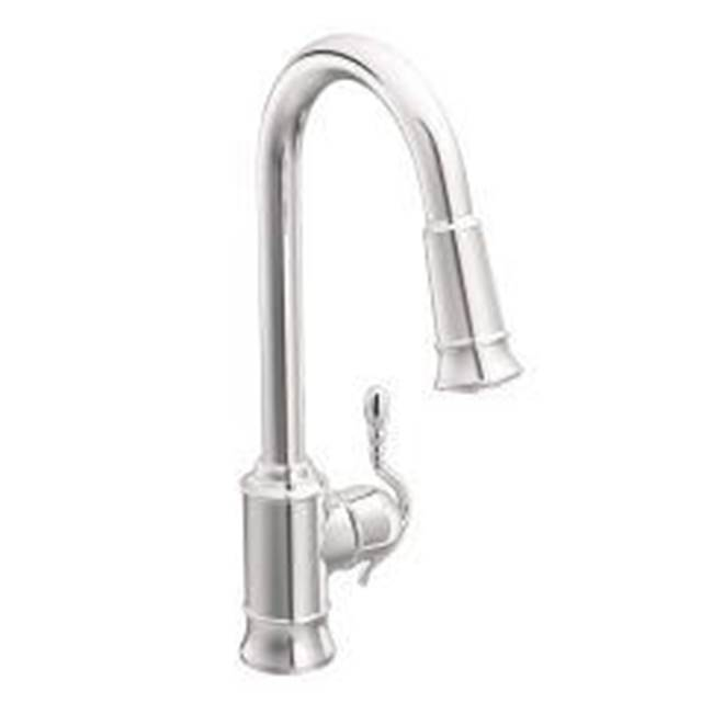 Moen 7615c At Elegant Designs Single Hole Kitchen Faucets In A Decorative Chrome Finish