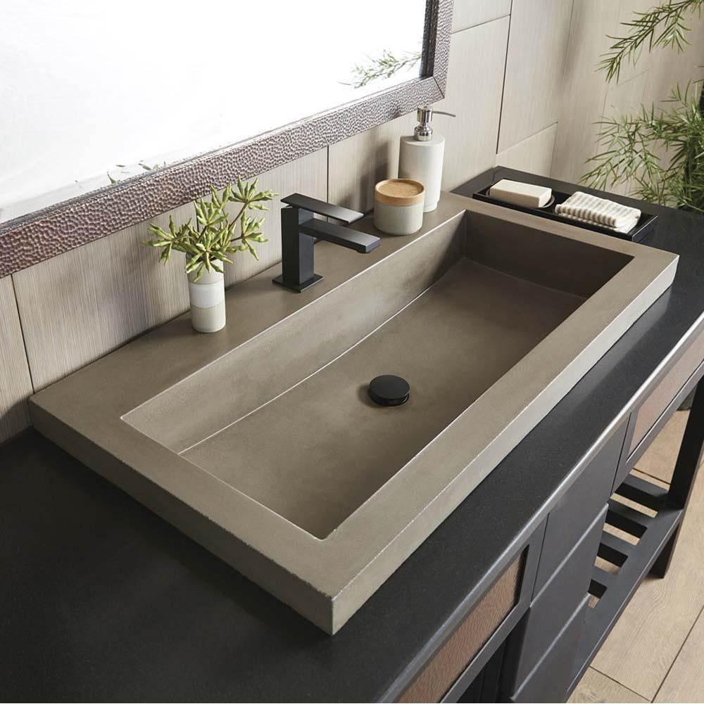 Native Trails Nsl3619 E At Elegant, Trough Sink For Bathroom