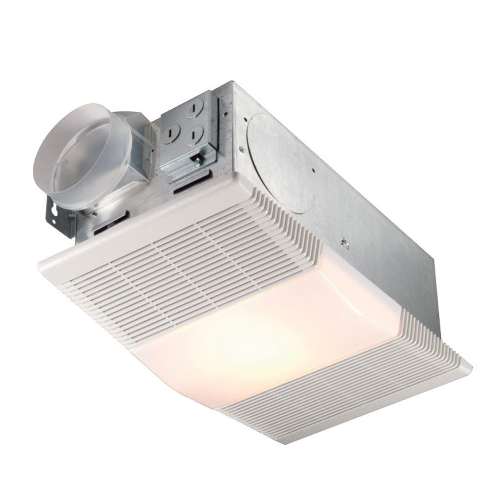 Broan Nutone 665rp 70 Cfm 4 0 Sones Exhaust Fan With 1300w Heater And 100w Incandescent Light Bulb