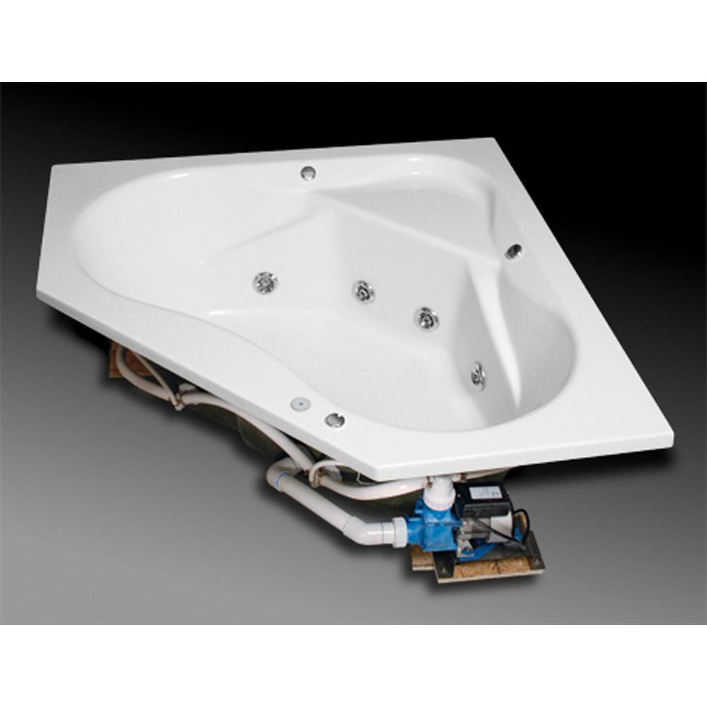 Oasis CTCSG-470 WHT/6P WHT at Elegant Designs Corner Soaking Tubs in ...