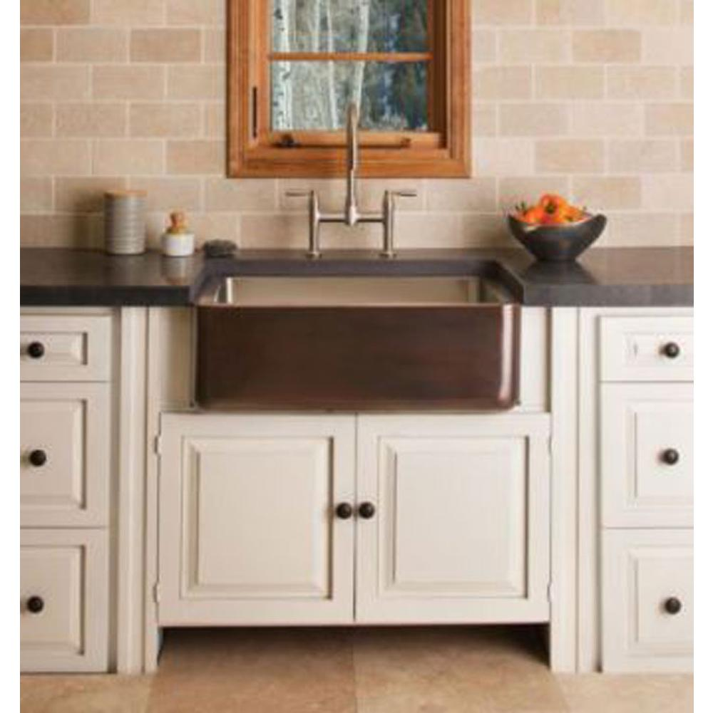 Stone Forest   CP 04 33 C/S   Copper/Stainless Farmhouse Sink