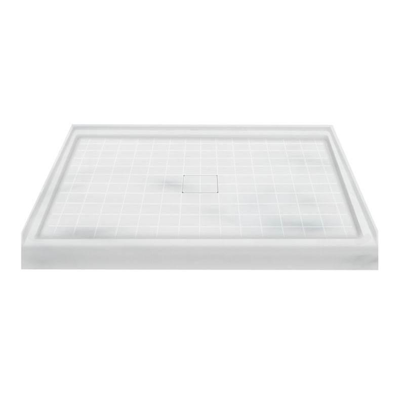 Transolid   F4834 11   48u0027u0027 X 34u0027u0027 Solid Surface Shower Base In Storm